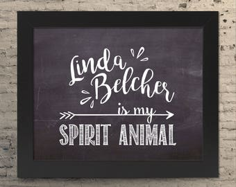 Bobs Burgers Linda Belcher chalkboard quote prints for home decor wall art or a housewarming gift for mom!