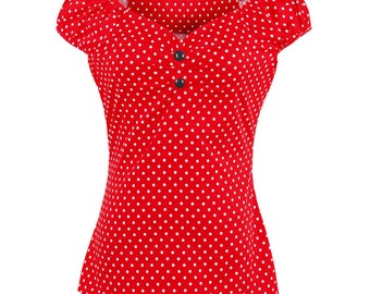 Vintage Style polka dot top size 10 and 16