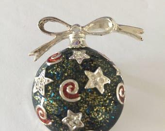 Christmas Ornament Brooch, Holiday Brooch, Christmas Brooch