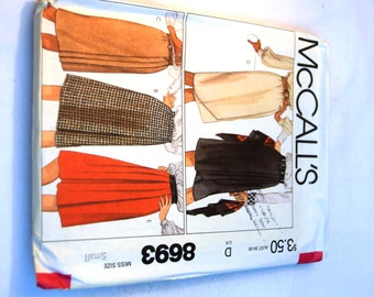 Vintage 1980s McCalls 8693 wrap skirts tulip skirt pleated skirt sewing pattern