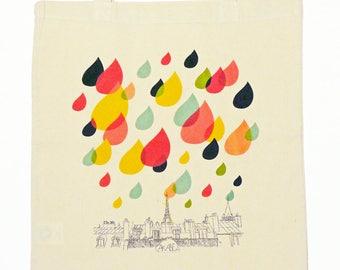 RAIN - Organic cotton tote bag - Paris souvenir