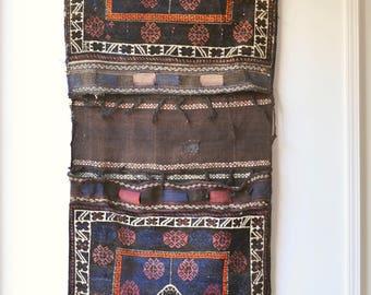 2.10 x 6.5 Antique camel bag textile. Wall hanging | Home decor