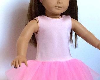 Pretty pink tutu outfit for 18-inch Dolls - Fit American girl - Our generation - AG - 18 inch Dolls clothes UK