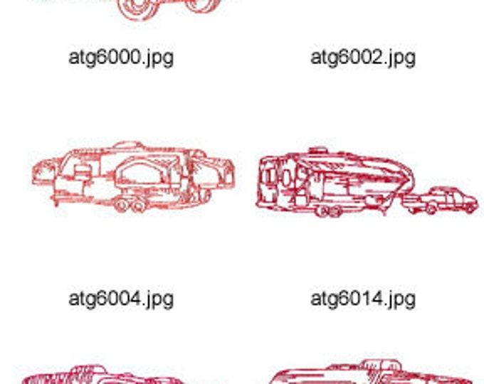 Redwork-RVs ( 10 Machine Embroidery Designs from ATW ) XYZ17C