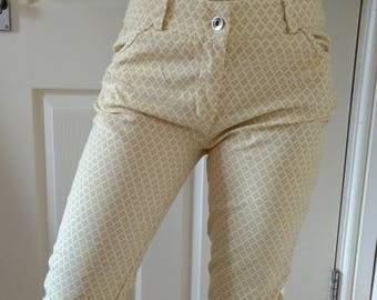 High waisted Vintage yellow pants W28 made in Italy