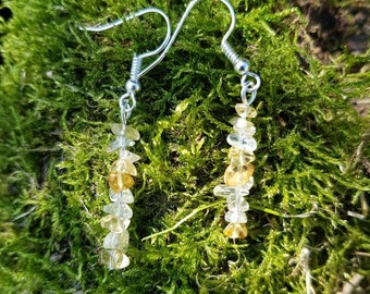 Citrine gemstone drop earrings