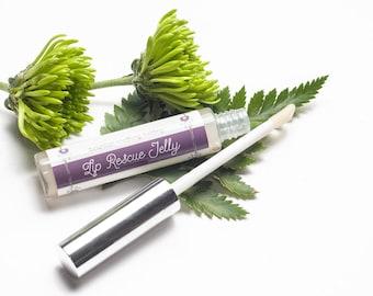 Batty's Lip Rescue Jelly - Petroleum Free Moisturizer Balm - All Natural Lip Care - Clear Lip Gloss - Cruelty Free