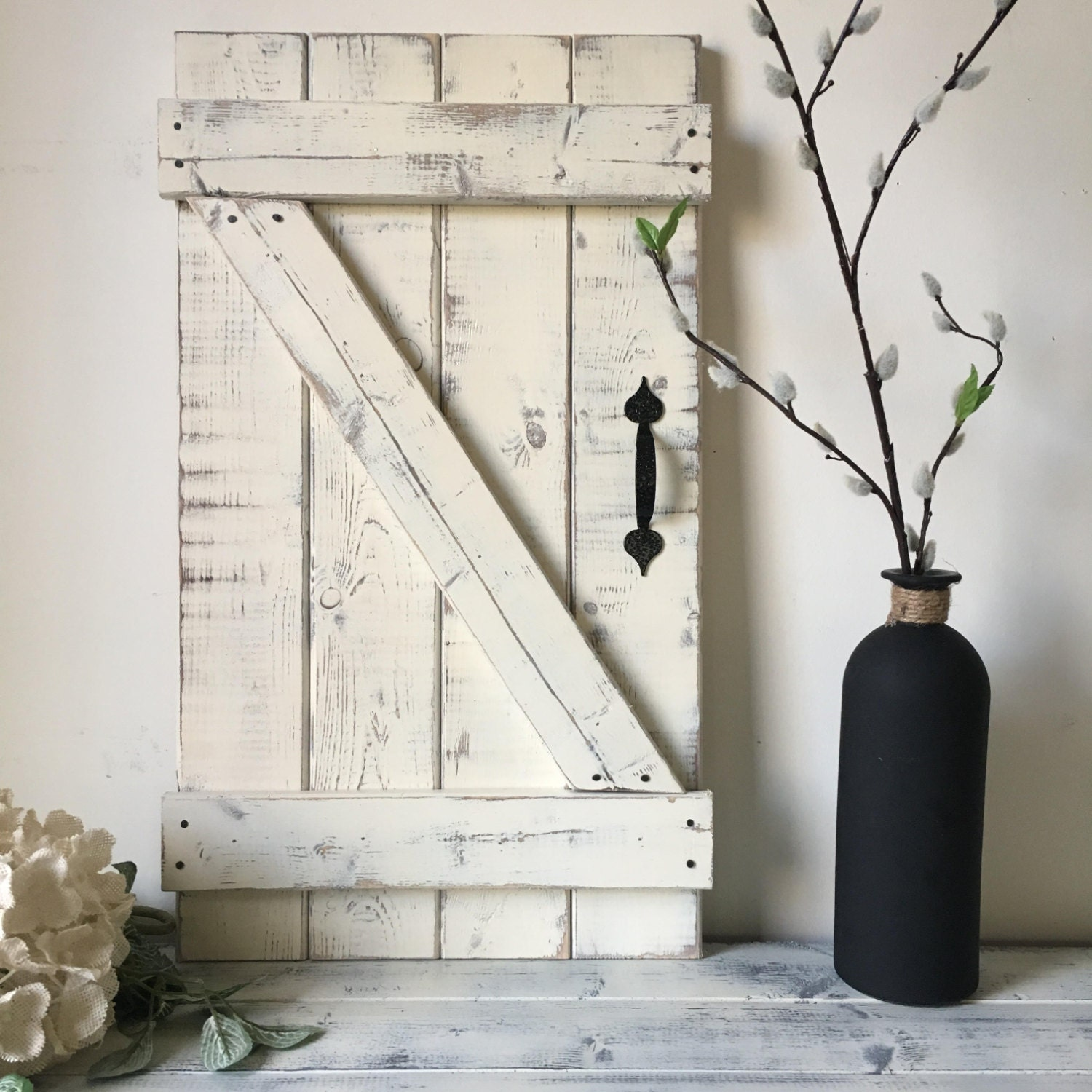 Mini Barn Door Wall Hanging Wood Shutter Barn Door Decor