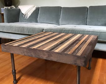 "Beautiful 30"" square coffee table- on Sale - modern - rustic - reclaimed"