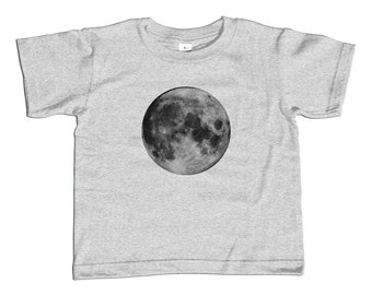 Moon Kids T-Shirt - Astronomy Kids TShirt - Youth and Toddler Sizes - 2T-Youth Large