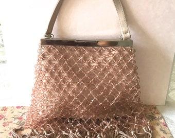 Vintage La Regale beaded evening bag, Vintage beaded bag, wedding bag, evening bag