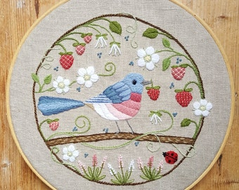 The Strawberry Thief Crewel Embroidery Pattern