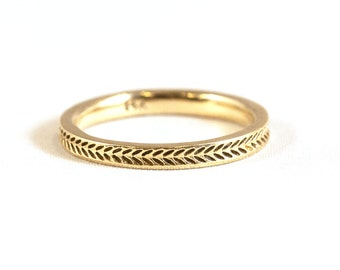 14kt Gold Wheat Ring