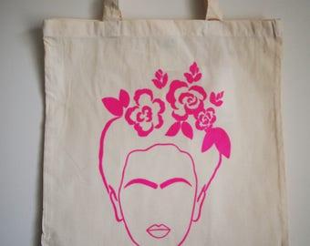 Flower Power Print Tote Bag (Pink)