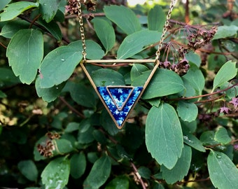Indigo- Geometric necklace- jewellery- gift