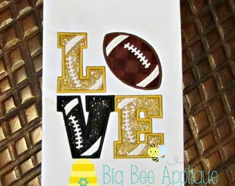 Football Applique Design, Boys Applique Design, Sports Applique, Machine Embroidery, Football Embroidery