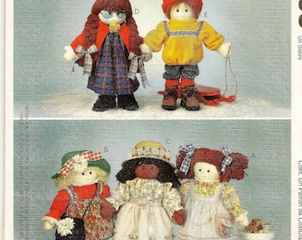 "A 22"" Soft Fiber-Stuffed Doll and Clothing Sewing / Crafting Pattern: Uncut ~ McCall's 2993"