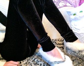 Black Velvet leggings MADE TO ORDER