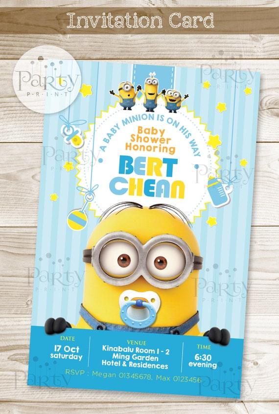 Superior Print It Yourself Digital Copy Minions Baby Shower