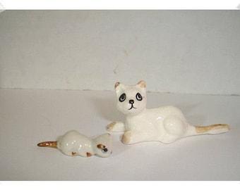 Miniature Ceramic Cats/Single Or Set of 2 /Minis /Supplies*