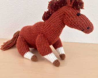 Plush knit horse of your dreams (customizable!)