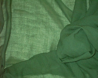 Vintage Olive Green Fabric 2 Yards 44 w No 62