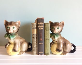1950's Planter Kitten With Yarn Ball, Mid Century Planters, Vintage Royal Copley Kitty, Herb Planters, Succulent Planters, MCM Home Decor