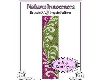 Bead Pattern Peyote(Bracelet Cuff)-Natures Innocence 2