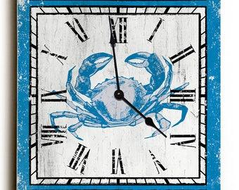Custom Coordinates Crab Clock - Rectangle, Latitude Longitude Clock
