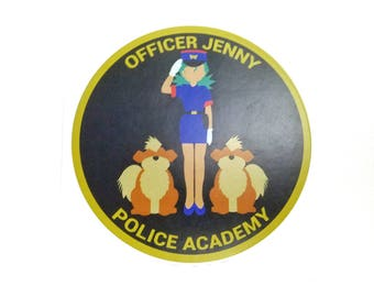 Officer Jenny Police Academy Pokemon Inspired Sticker | Hand Made Sticker | Pokemon Sticker
