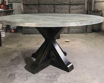 Zinc table Etsy