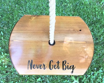Never Get Big Oval Swing   Large Tree Swing   Wooden Rope Swing   Round Rope Swing   Outdoor Wood Swing Outdoor Kid Swing Outdoor Tree Swing