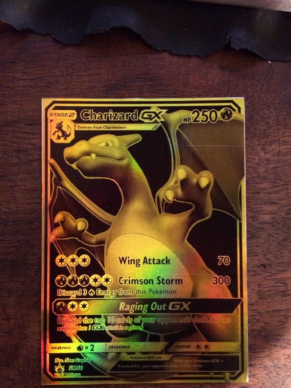charizard gx pokemon luxury card orica custom card gold rare. Black Bedroom Furniture Sets. Home Design Ideas
