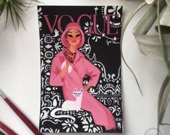 Pink, black, white VOUGE cover print