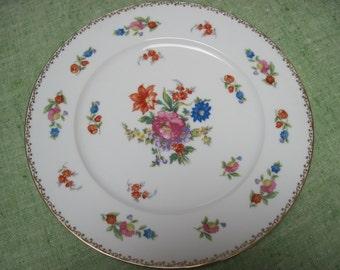"Noritake Hand Painted Sweets/Tea Sandwich Platter in the ""Dresdlina"" Pattern"