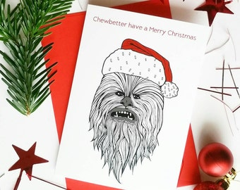 """Funny Star Wars Christmas Card 