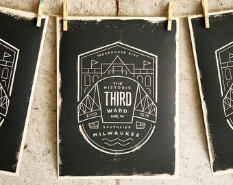 Milwaukee Third Ward - Block print