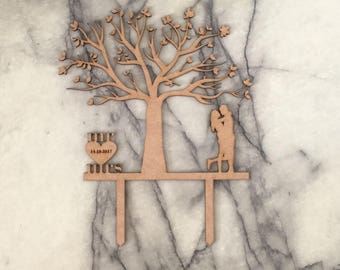Couple - Tree Cake Topper
