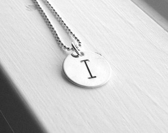 Initial Necklace, Letter I Necklace, Letter I Jewelry, Initial Jewelry, Charm Necklace, Custom Sterling Silver Jewelry, Monogram Necklace