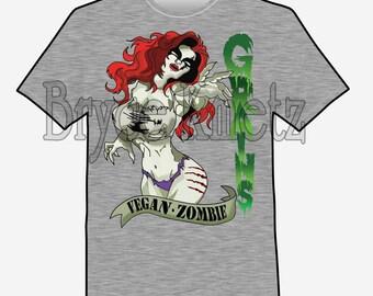 Vegan Zombie T-Shirt -- Grains!!!!!