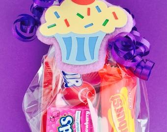 Cupcake Birthday Party - Cupcake Favors - Cupcake Necklace - Cupcake Party Favors - Cupcake Gift - Cupcake Theme - Cupcake Favor Tag
