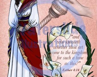 Queen Esther Bible Poster DOWNLOAD
