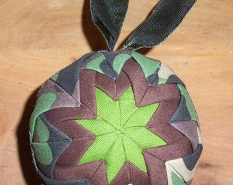 Quilted Ornament - Camo Ready to ship