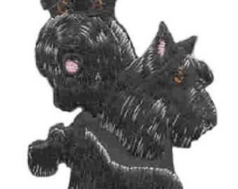 Embroidered SCOTTIE SCOTTISH Terrier Dog Breed Iron-on/Sew on Patch Badge Applique DIY