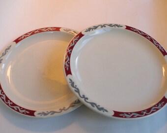 Set of Two Vintage 1950s Syracuse Diner Style Dinner Plates & Syracuse plates | Etsy