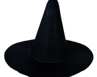 Three 6 inches Black Felt Witch top hat! * FREE SHIPPING *