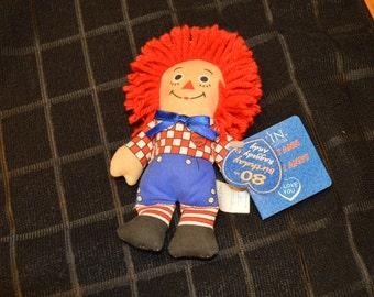 """80th Birthday Raggedy Andy 6"""" Doll (R)"""