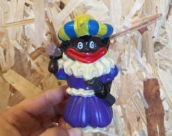 Vintage plastic pop Zwarte Piet