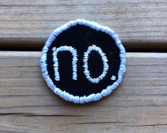 No. Hand Embroidered Patch