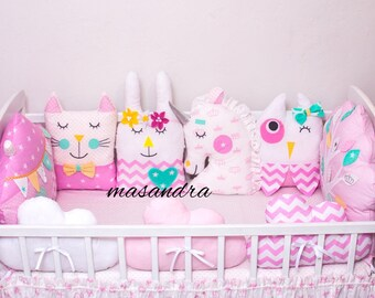 baby bed protector pillows
